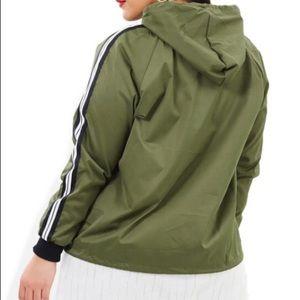 Green Windbreaker Jacket